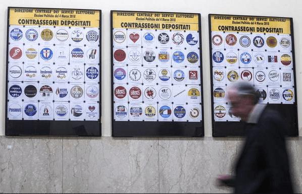 Os símbolos dos partidos para as eleições de 4 de março