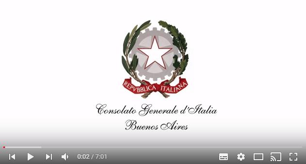 Consulado Italiano em Buenos Aires faz série de vídeos informativos 1